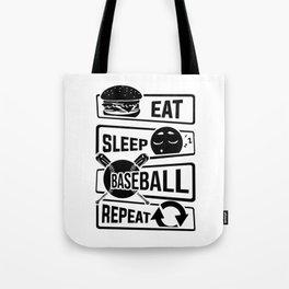 Eat Sleep Baseball Repeat - Home Run Strike Batter Tote Bag