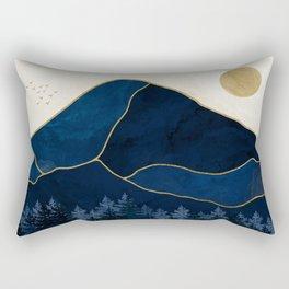 Mt Hood Sapphire Blue Wilderness Rectangular Pillow