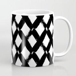 Black and White Criss Cross Pattern Modern Contemporary Coffee Mug