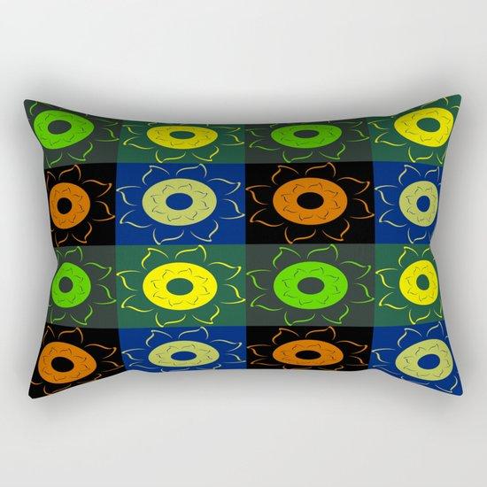 Floral squares Rectangular Pillow