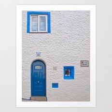 Blue door in Sitges Art Print