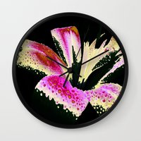 lily Wall Clocks featuring Lily by Vitta