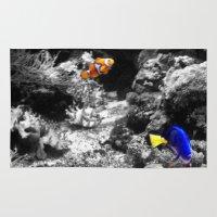 nemo Area & Throw Rugs featuring Nemo and Dora by Efua Boakye
