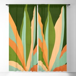 Colorful Agave / Painted Cactus Illustration Blackout Curtain