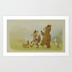 We're Off To Candlemoon Woods Art Print