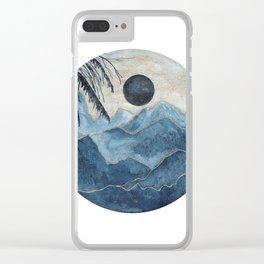 Indigo & gold landscape 5 Clear iPhone Case