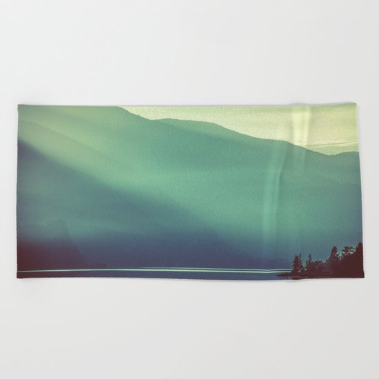 Summer at the Lake Turquoise Beach Towel