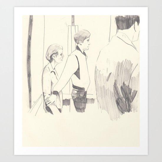 Elevator scene in Drive Art Print