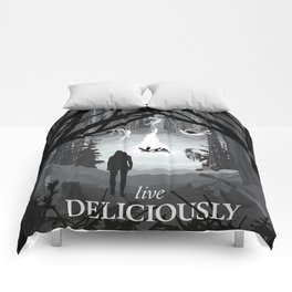 Live Deliciously Comforters