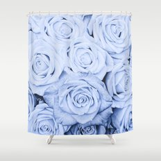 Some people grumble - Blue Rose, Floral Roses Flower Flowers on #Society6 Shower Curtain