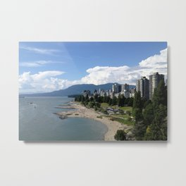 Van City Beach Metal Print