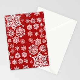 Winter Snowflakes Stationery Cards