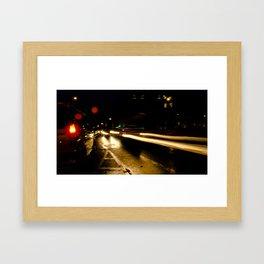 Street Light IV - Leeson Street & Adelaide Road Framed Art Print