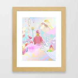 PINK RAVE Framed Art Print