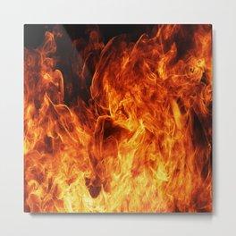 Orange flame Metal Print