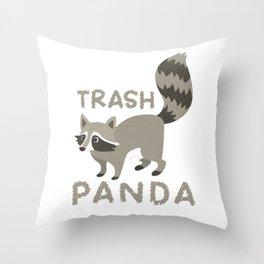 Raccoon Funny Throw Pillow