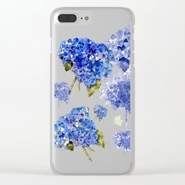 Hydrangea Nosegays Clear iPhone Case