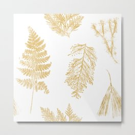 Hammond in Gold Metal Print