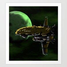 Comman Spaceship in Orbit Art Print