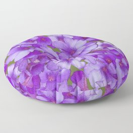 Purple Oxalis Floor Pillow