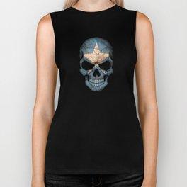 Dark Skull with Flag of Somalia Biker Tank