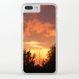 Sunsets of Summer Clear iPhone Case
