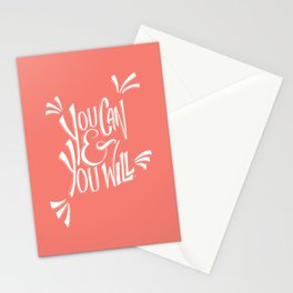 You can and you will (Peach Echo) Stationery Cards