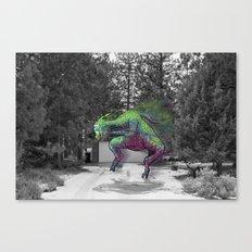 Unseen Monsters of Mount Shasta - Greshlib Tanquid Canvas Print