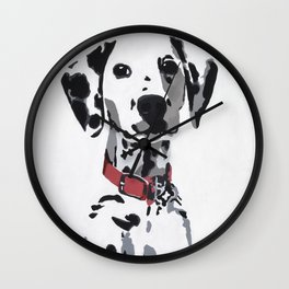 Winnie in red Wall Clock