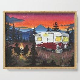 Shasta Mountain Sunset Serving Tray