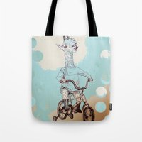 chile Tote Bags featuring where you be chile? by Asia Fuse Dirty Tease