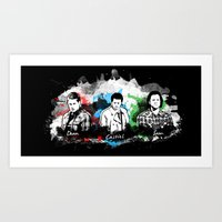 superwholock Art Prints featuring Supernatural - Darkness & Deliverance by Samantha Michelle Wallace