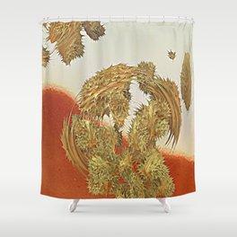 Spikey the hybrid cactus Shower Curtain