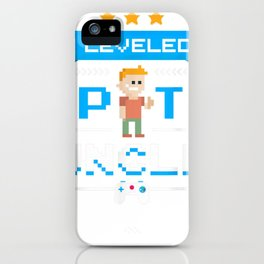 Uncle Gamer Shirt Leveled Up To Uncle Pregnancy Announcement iPhone Case