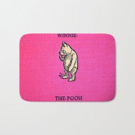 Pooh Bear - Red Bath Mat