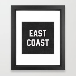 East Coast - black Framed Art Print