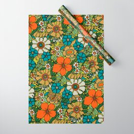 70s Plate Wrapping Paper