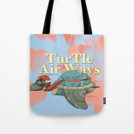 Turtle Air Ways, The flying turtle! Tote Bag
