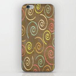 pattern grundgy swirls iPhone Skin