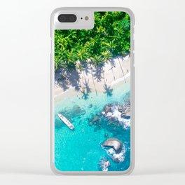 Jungle Beach | Caribbean Island Clear iPhone Case