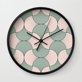 Sage and Blush Vintage Geometric Scales Wall Clock