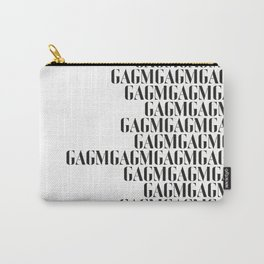 Graphic Arts Gallery of Melbourne (GAGM) B&W repeating pattern Carry-All Pouch