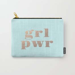GRL PWR - rose gold Carry-All Pouch