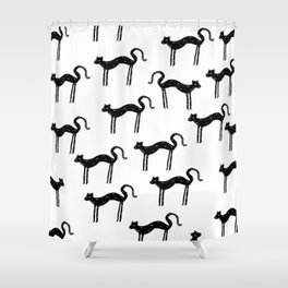 Slinky Panther Shower Curtain