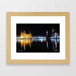 Night View of Golden Temple, Amritsar Framed Art Print