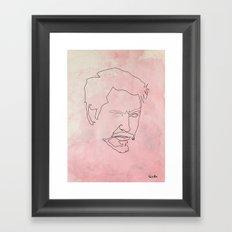 One line Tony Stark Framed Art Print
