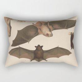 Vintage Flying Bat Illustration (1874) Rectangular Pillow