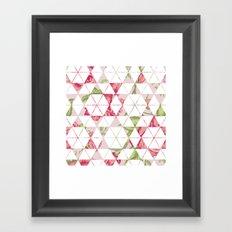 Flora Quilt Framed Art Print