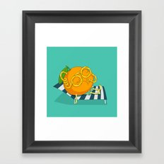 Orange Juice Framed Art Print