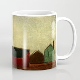 Americana Barnyard with Tractor Coffee Mug